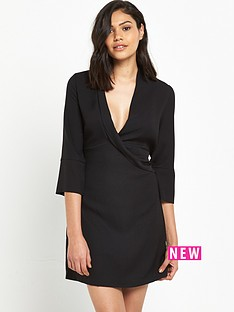 river-island-river-island-black-long-sleeved-wrap-front-shirt-dress