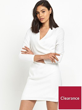 river-island-river-island-white-long-sleeved-wrap-front-dress
