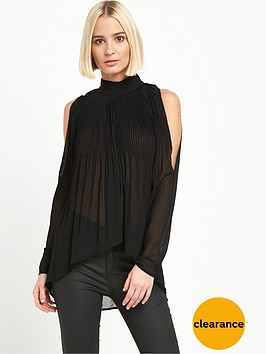 river-island-plisse-cold-shoulder-blouse