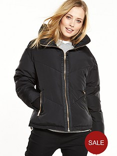 v-by-very-short-padded-funnel-neck-coat-black