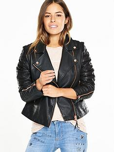 v-by-very-petite-petite-rib-and-zip-detail-faux-leather-jacket
