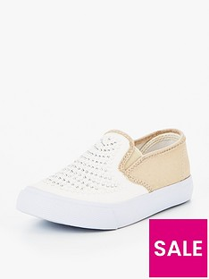 v-by-very-millie-girls-metallic-plimsoll