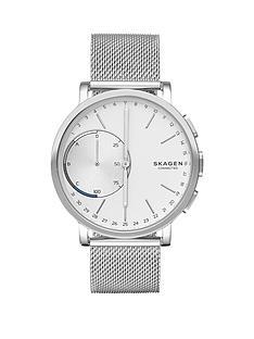skagen-skagen-hagen-connected-silver-white-dial-stainless-steel-bracelet-smart-watch