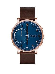 skagen-skagen-hagen-connected-blue-dial-leather-strap-smart-watch