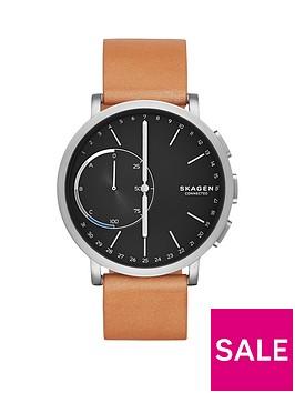 skagen-skagen-hagen-connected-black-dial-leather-strap-smart-watch