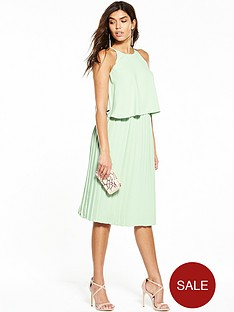 v-by-very-pleated-midi-dress-mint