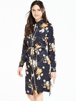 Photo of V by very floral jacquard print shirt dress