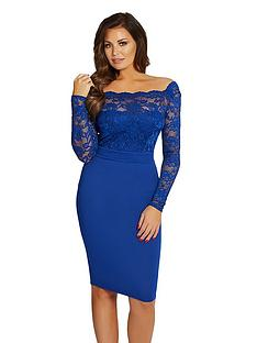 jessica-wright-long-sleeve-lace-top-midi-dress-cobalt