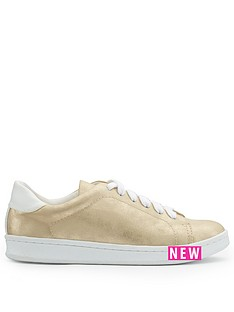 miss-selfridge-rose-gold-lace-up-trainer