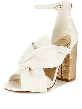 miss-selfridge-white-bow-heel-sandal