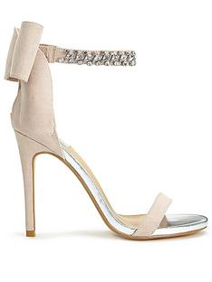 miss-selfridge-grey-diamante-bow-sandal