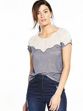 v-by-very-lace-trim-marl-t-shirt