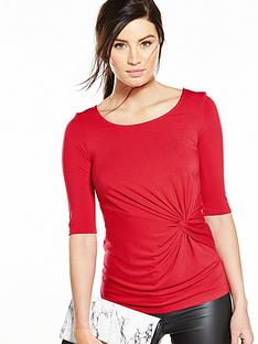 v-by-very-knot-front-34-sleeve-top