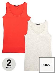v-by-very-curve-curve-pack-of-2-longline-vests-redgrey