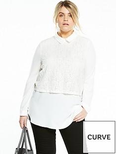 v-by-very-curve-lace-front-jersey-back-shirt-ivory