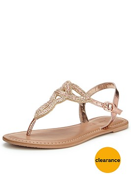 v-by-very-melody-embellished-toepost-sandal-rose-gold