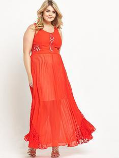 so-fabulous-pleat-and-lace-maxi-dress-orange
