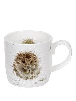 portmeirion-wrendale-awakening-mug-hedgehog-by-royal-worcester-single-mug