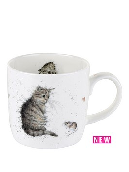 portmeirion-wrendale-cat-and-mouse-mug-cat-by-royal-worcester-single-mug