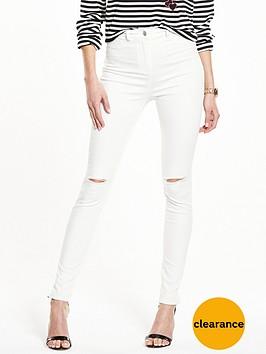 v-by-very-petite-addison-slash-knee-high-waistednbspskinny-jean-white