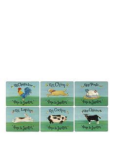 pimpernel-dans-le-jardin-placemats-set-of-6
