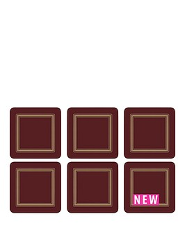 pimpernel-classic-burgundy-coasters-set-of-6