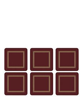 pimpernel-set-of-6-classic-burgundy-coasters