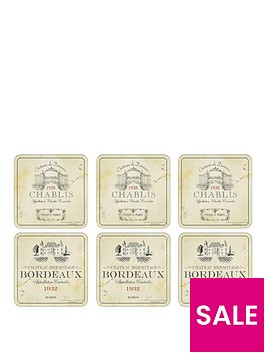 pimpernel-vin-de-france-coasters-set-of-6