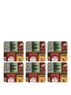 pimpernel-vintage-tins-coasters-set-of-6