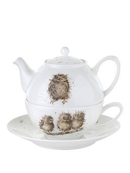 portmeirion-wrendale-tea-for-one-with-saucer-owls-by-royal-worcester