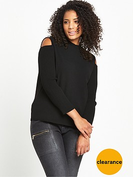 lost-ink-curve-lost-ink-curve-cold-shoulder-jumper-with-rib