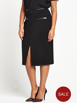 lost-ink-curve-lost-ink-curve-pencil-skirt-in-ponte-with-pu-pockets