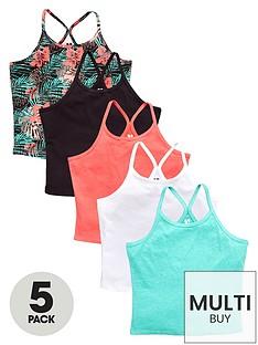 v-by-very-essentials-girls-racer-back-vests-5-pack