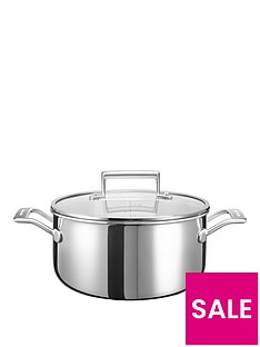 kitchenaid-3-ply-stainless-steel-cookware-collection-ndash-6-litre-low-casserole-pot