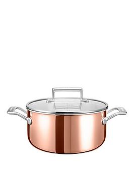kitchenaid-3-ply-copper-cookware-collection-ndash-6-litre-low-casserole-pot-with-lid