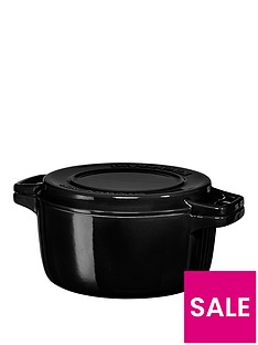 kitchenaid-professional-series-24cmnbspround-cast-iron-casserole-pot-in-black