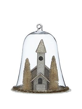 gisela-graham-vintage-church-with-trees-in-glass-dome-christmas-decoration
