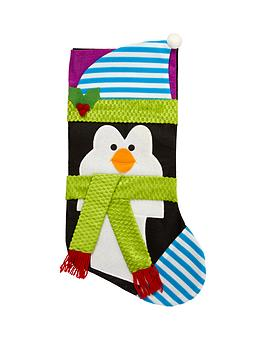 gisela-graham-penguin-fabric-stocking