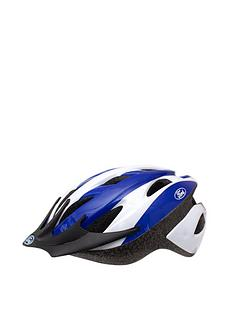 Ford Style Mens Cycle Helmet 54-58cm White/Blue