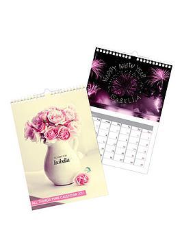 personalised-pink-girly-2017-calendar