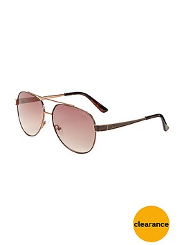 guess-aviator-sunglasses-brown
