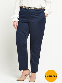v-by-very-curve-belted-cotton-sateen-trouser-navy