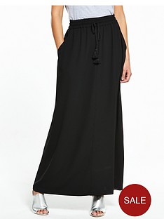 v-by-very-tassel-crepe-maxi-skirt