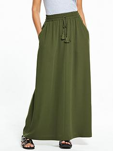 v-by-very-tassel-crepe-maxi-skirt-khaki