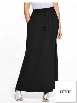 v-by-very-petite-tassel-crepe-maxi-skirt