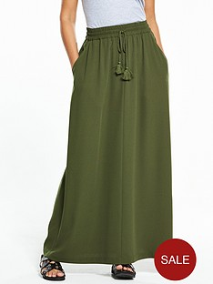 v-by-very-petite-tassel-crepe-maxi-skirt-khaki