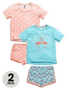 v-by-very-girls-flamingo-pyjamas-2-pack
