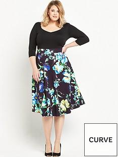 v-by-very-curve-34-sleeve-scuba-prom-dress