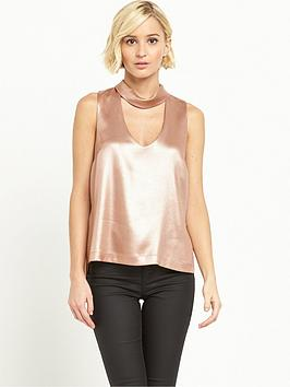 river-island-sleeveless-choker-top-rose-gold