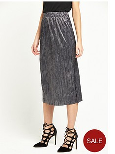 river-island-plisse-midi-skirt-grey